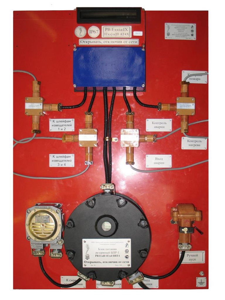 Прибор пожарный управления ППУ 4-1 панель