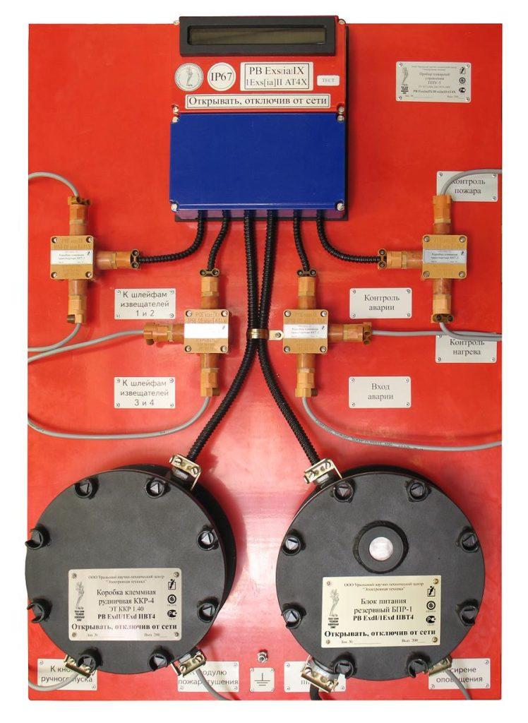 Прибор пожарный управления ППУ 5-1 панель